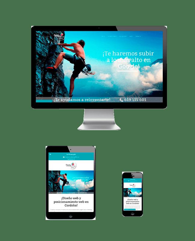 Responsive página web landing-responsive-fourmarketing