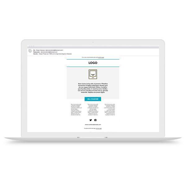 Diseño, envío y reporte de EMAILING EMAILING01